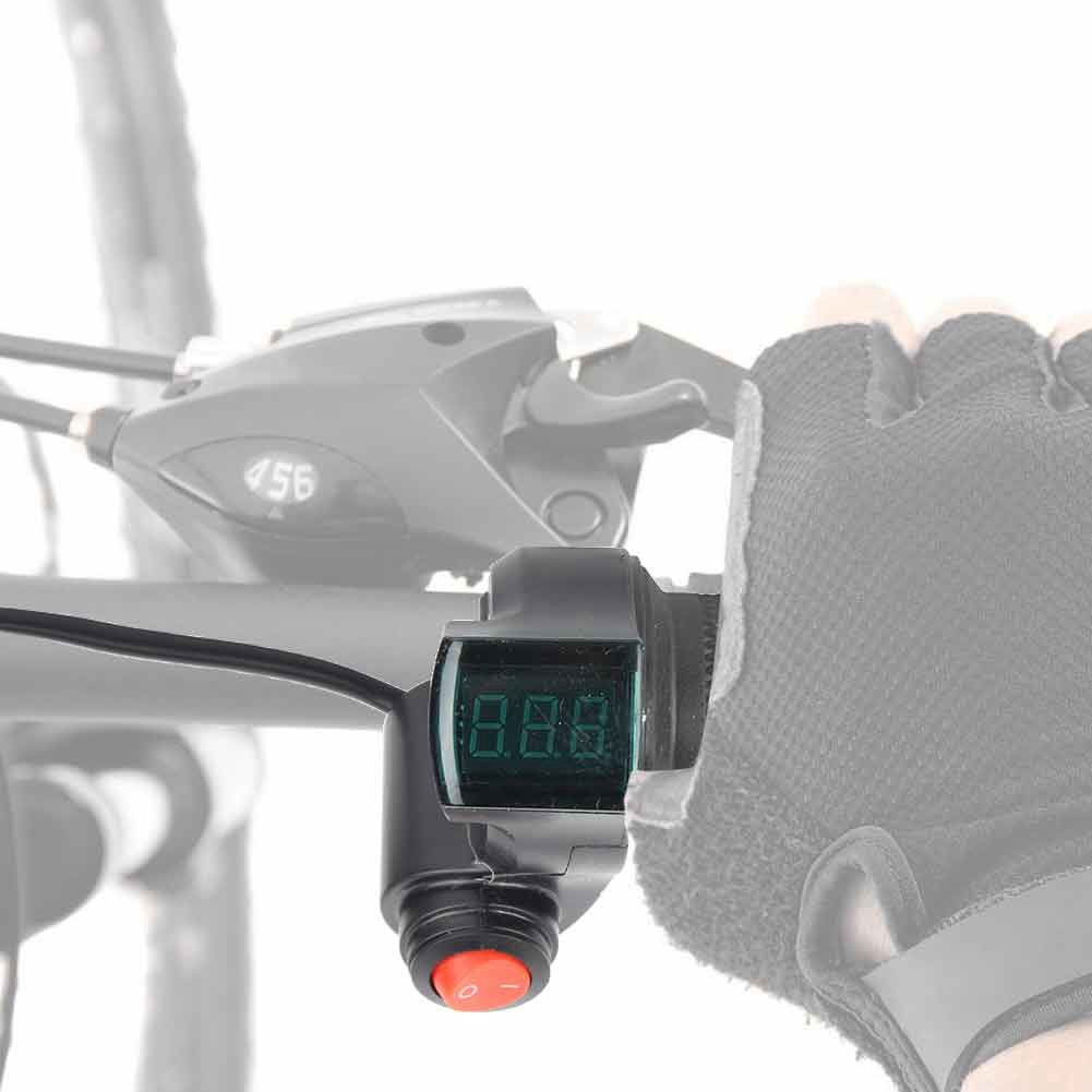Throttle-Grip-with-Digital-Voltage-Display-and-Lock-for-E-Bike-Scooter-Tricycle thumbnail 30