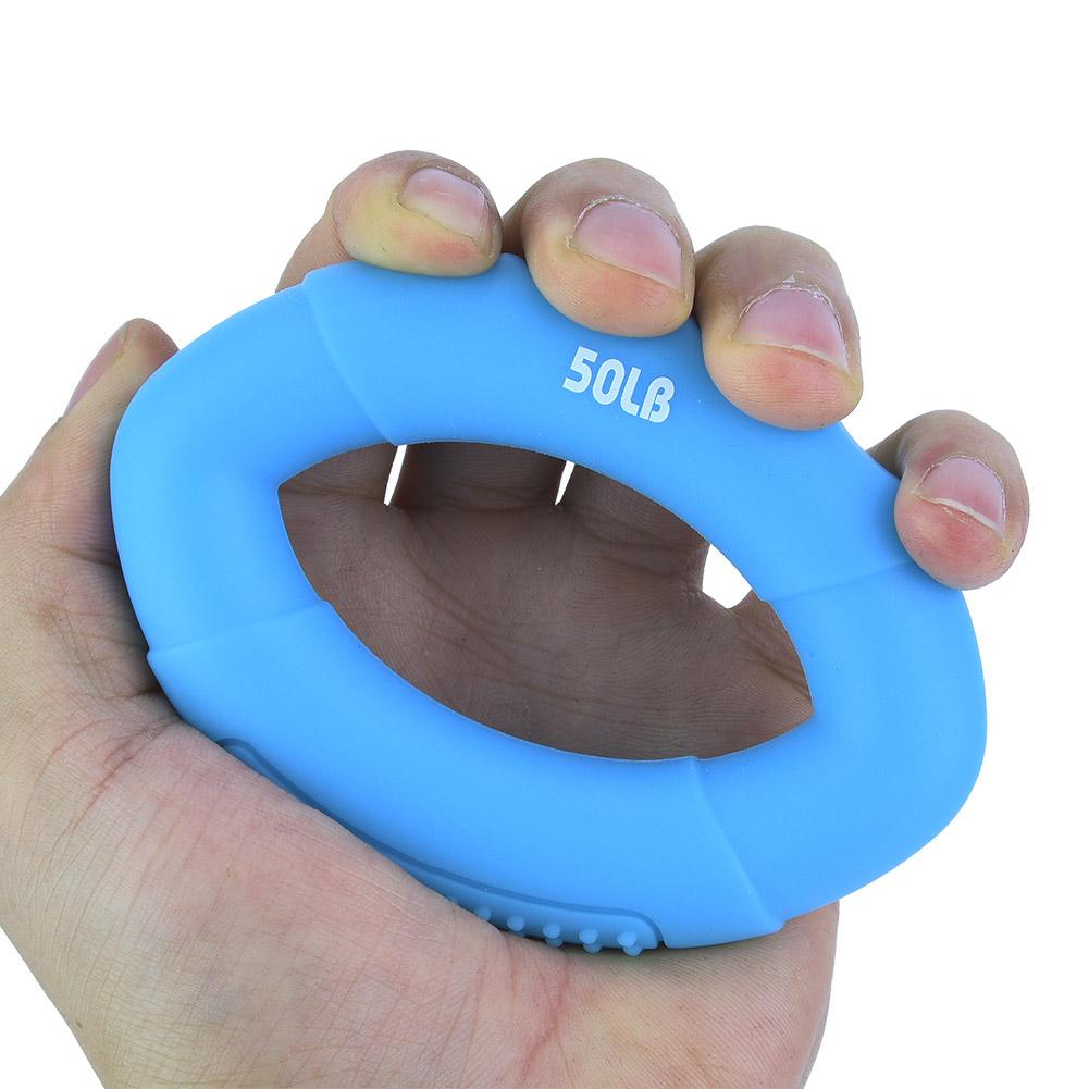 Finger-Hand-Grip-Rubber-Ring-Gripper-Strengthener-Excerciser-Muscle-Power-Train thumbnail 27