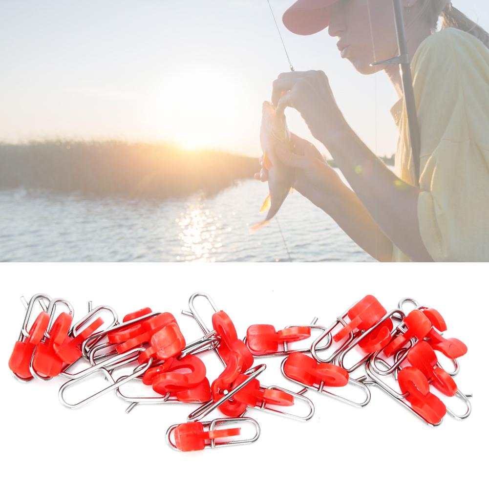 30x-Fishing-Bait-Clip-Locking-Jigging-Lure-Hook-Release-Clip-Tackle-Accessories miniatura 16