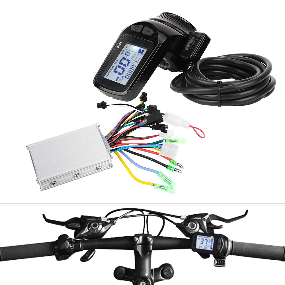 Electric Bicycle Scooter Brushless  Motor Controller LCD Display Thumb Thredtle  outlet store