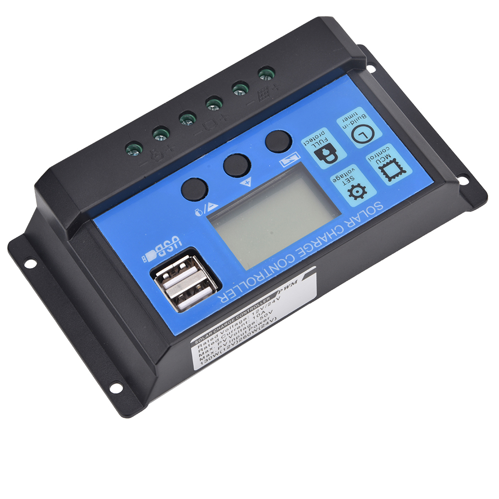 YCS-003 Solar Panel Regulator Laderegler PWM 12V//24V Autofokus Tracking 100A