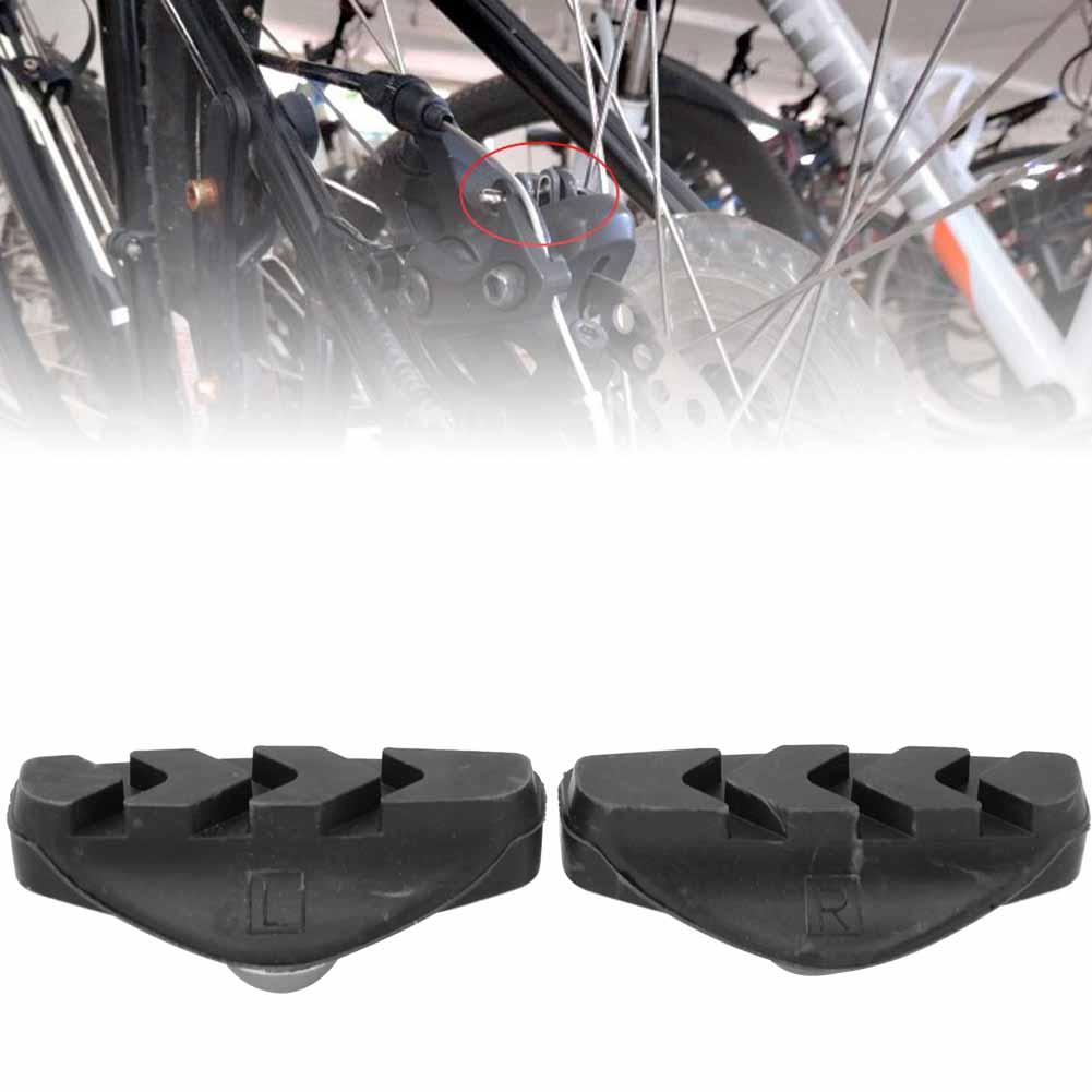 2pcs MTB Road Mountain Bicycle Braking V-Brake Holder Shoes Rubber Pads Blocks