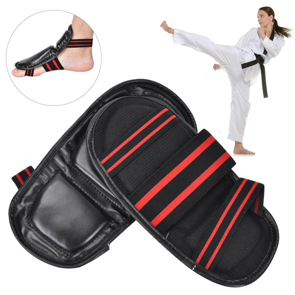 Karate-Sparring-Taekwondo-Foot-Guard-Protective-Gear-Set-Half-Boxing-Gloves thumbnail 10