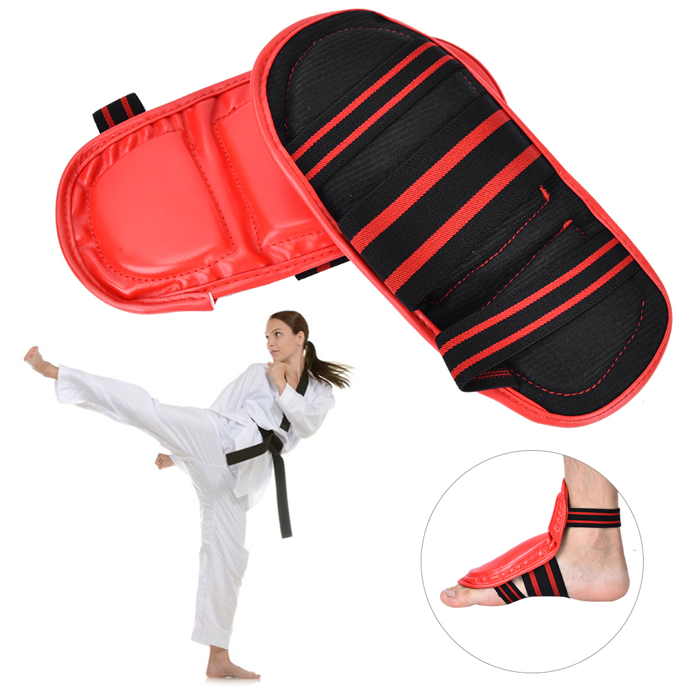 Karate-Sparring-Taekwondo-Foot-Guard-Protective-Gear-Set-Half-Boxing-Gloves thumbnail 13
