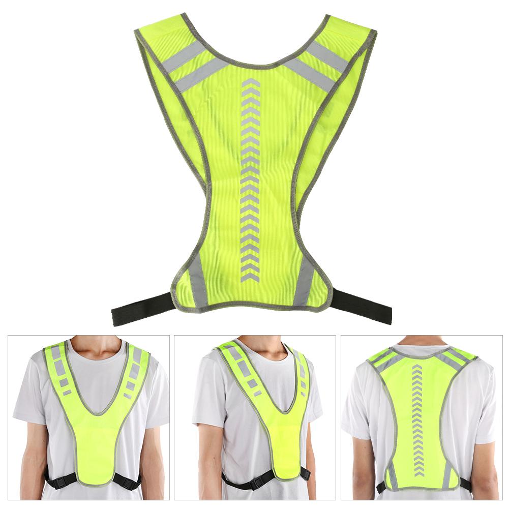 Adjustable Hi-Vis Safety Reflective Vest Outdoor Night Sport Running Tank Top