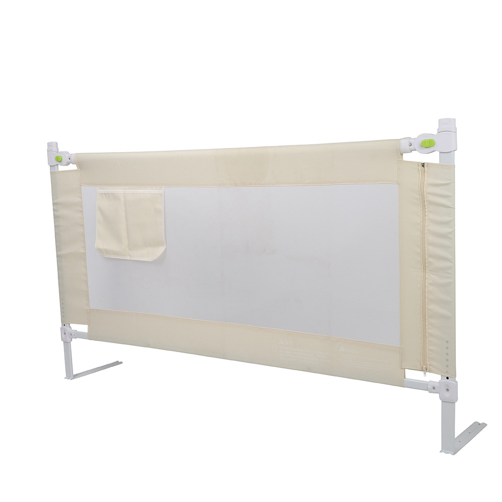 - Folding Toddler Safety Bed Rail Baby's Bed Guardrail Fence