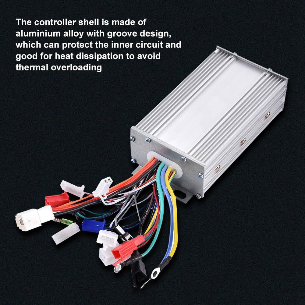 Electric Bicycle Bike Dual Mode Brushless Motor Controller 36V//48V 500W//1000W