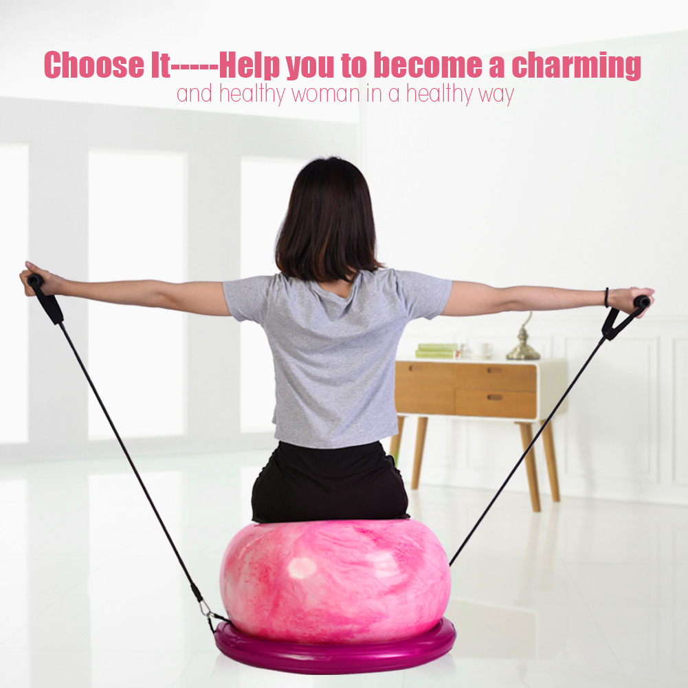 Anti-burst-Fitness-Gym-Yoga-Balance-Strength-Stability-Exercise-Ball-Air-Pump thumbnail 16