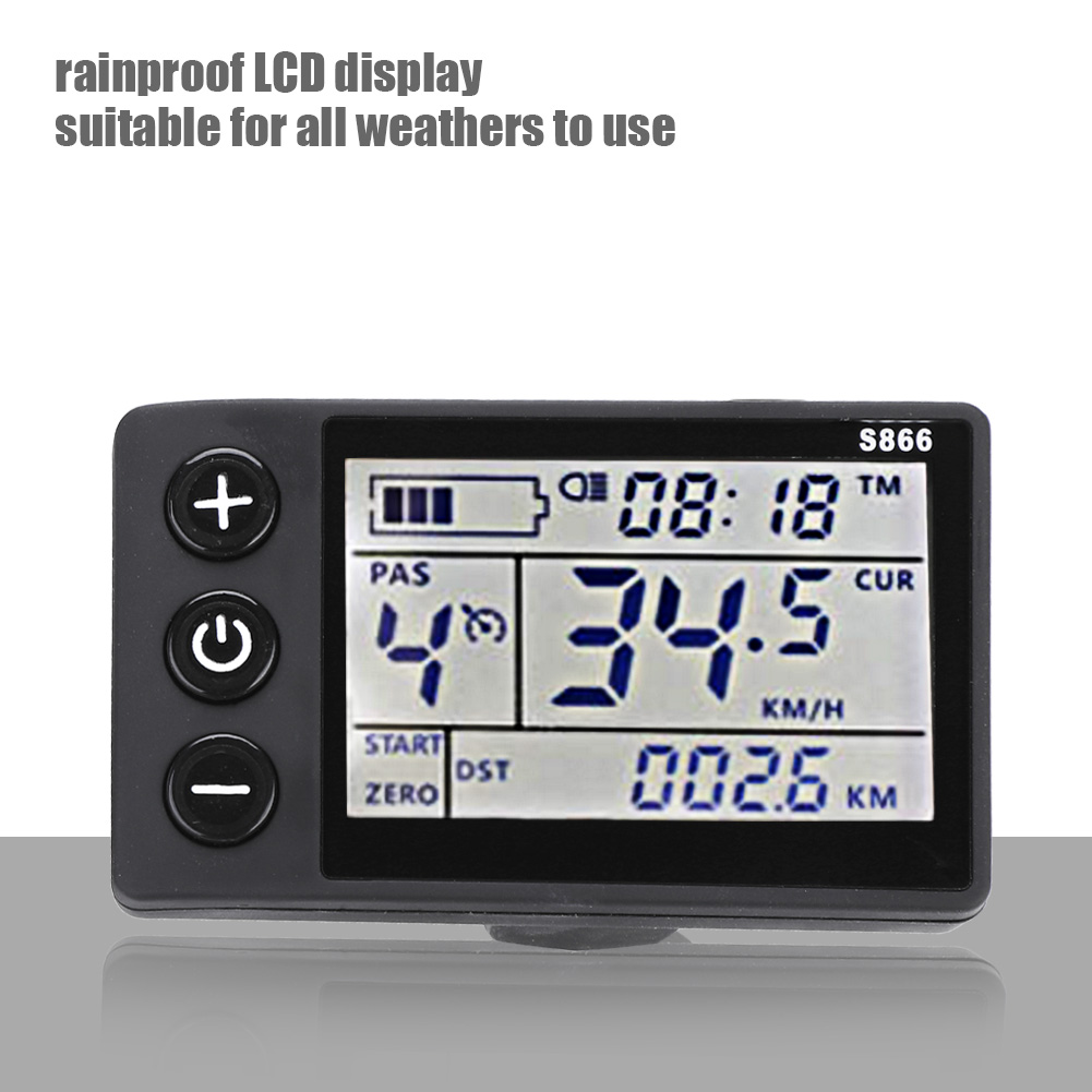 36V-48V-Waterproof-LCD-Display-Panel-Electric-Bicycle-Scooter-Controller-Kit thumbnail 14