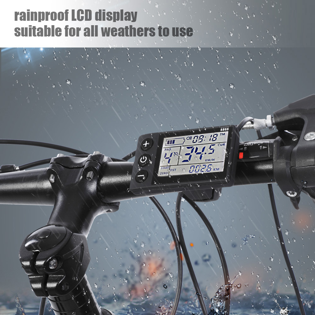 36V-48V-Waterproof-LCD-Display-Panel-Electric-Bicycle-Scooter-Controller-Kit thumbnail 18