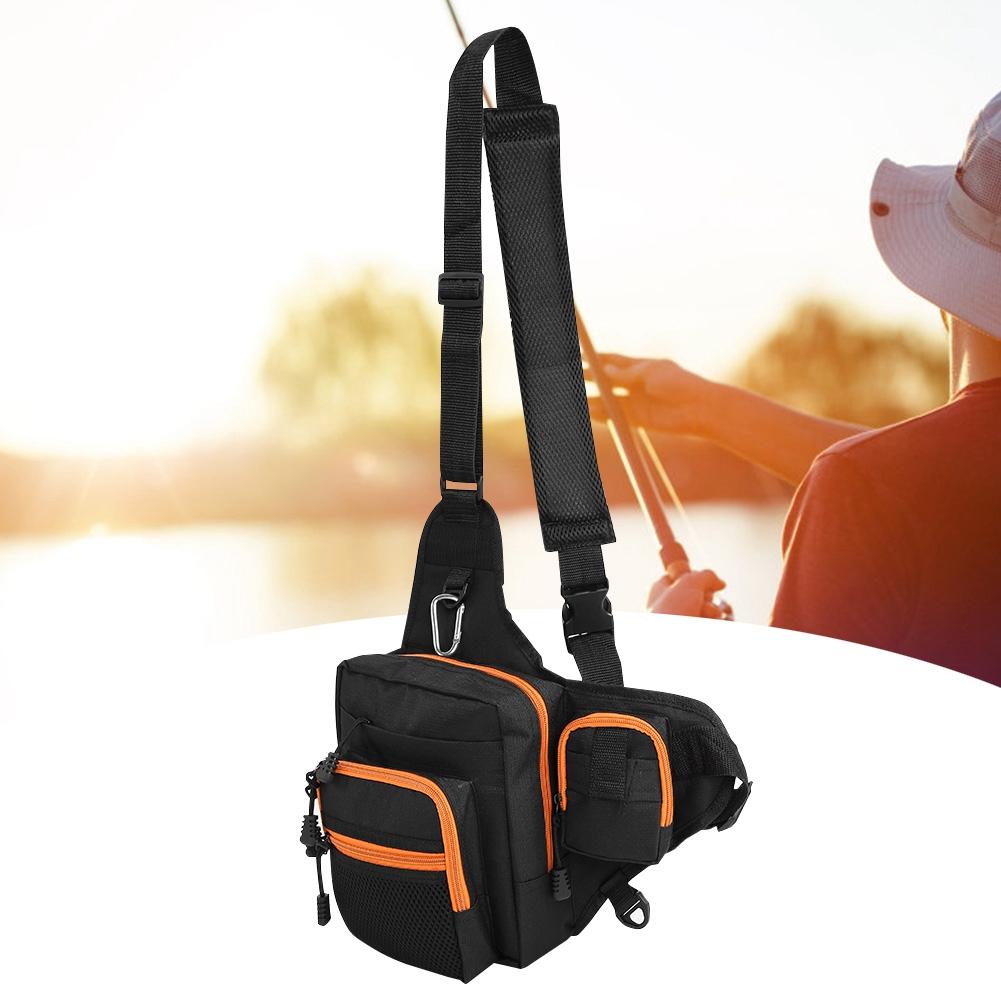 fishing tackle bag pack shoulder waist reel