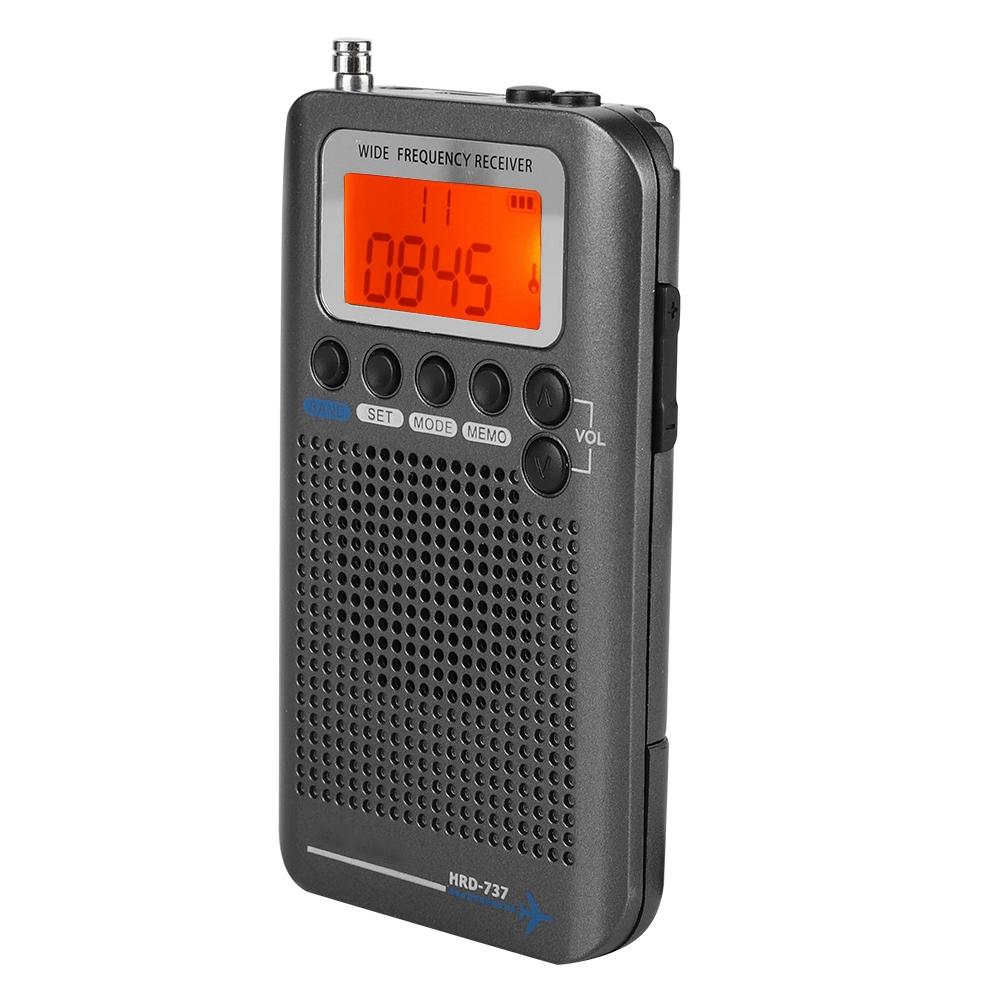 Portable Aircraft Band Radio Receiver VHF Transceiver Radio