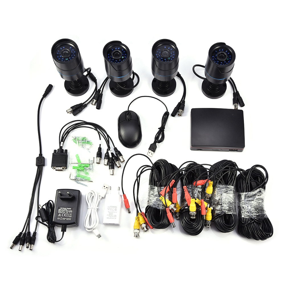 720P-4CH-CCTV-Security-Camera-System-HD-DVR-AHD-Surveillance-Outdoor-Waterproof miniature 15