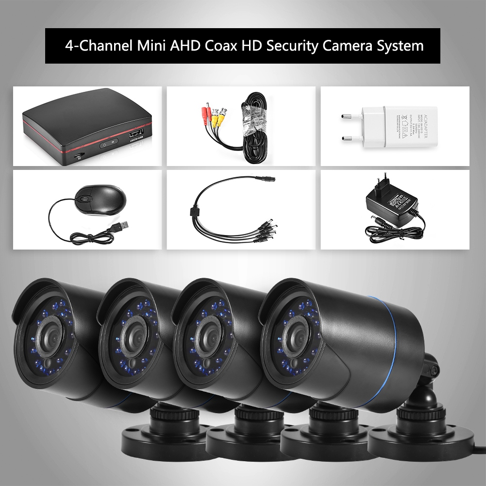720P-4CH-CCTV-Security-Camera-System-HD-DVR-AHD-Surveillance-Outdoor-Waterproof miniature 20