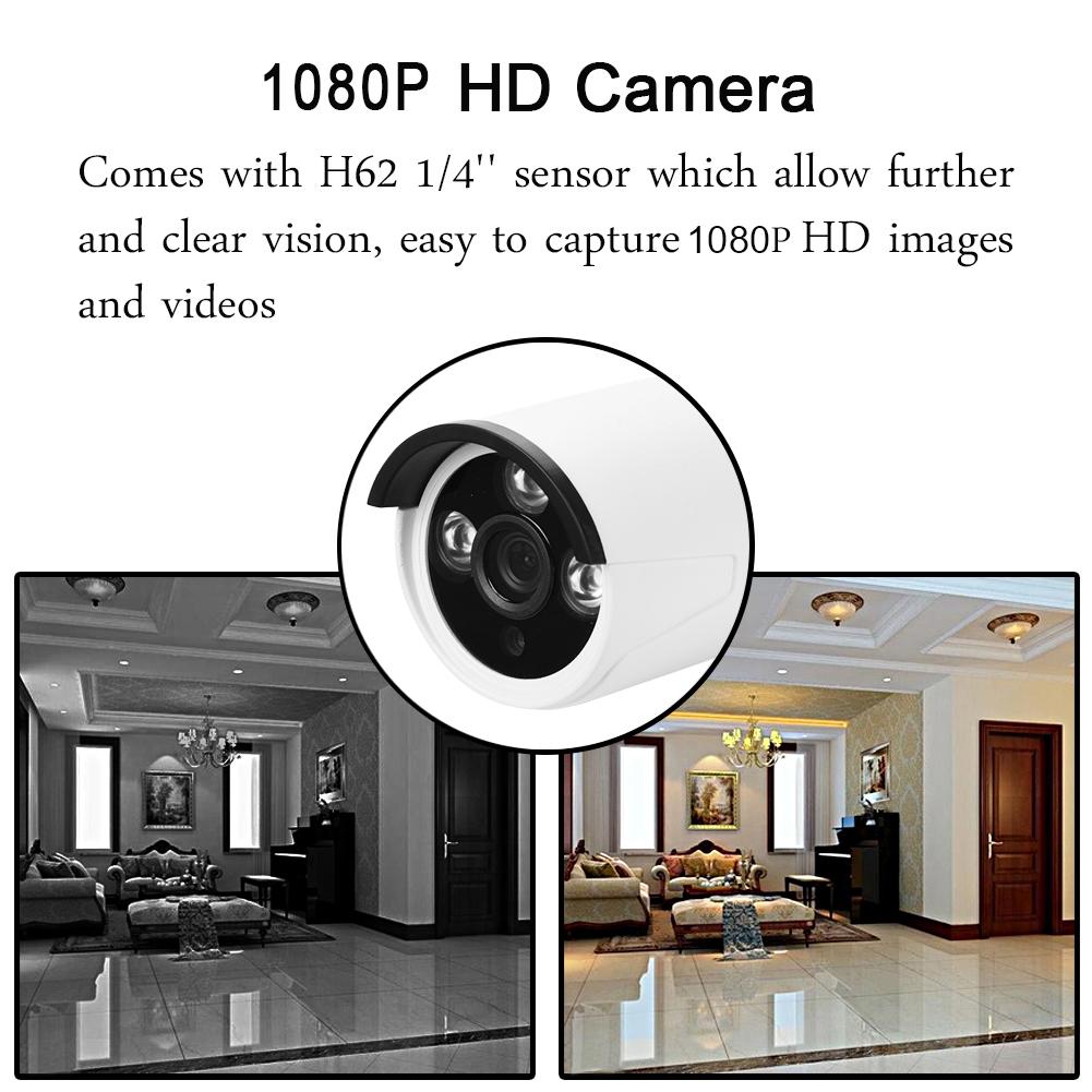 4ch 1080p Wireless Nvr Wifi Ip Camera Ir Dvr Cctv Home
