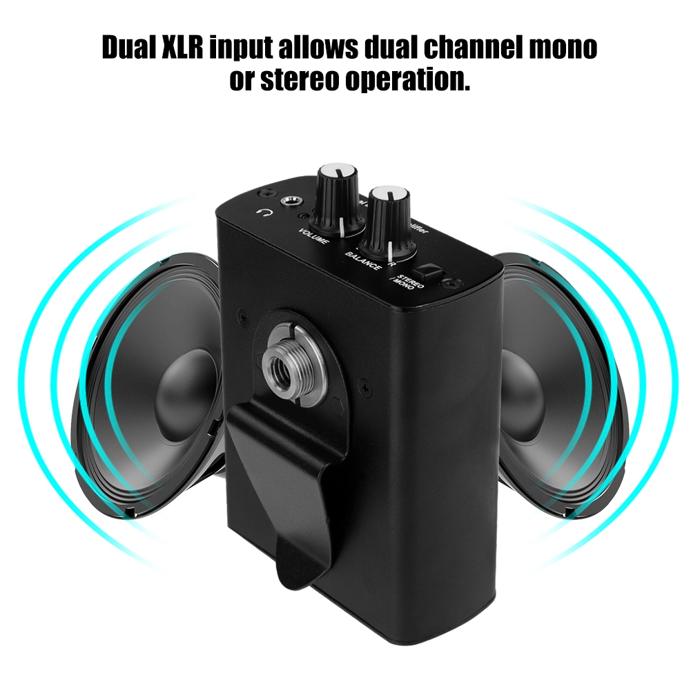 for anleon s1 dual xlr personal ear headphone amplifier in ear monitor system ebay. Black Bedroom Furniture Sets. Home Design Ideas