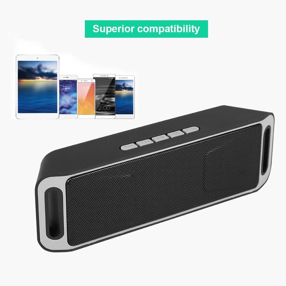 Portable Bluetooth Wireless Speaker USB FM Radio Stereo Bass MP3 Player Speaker