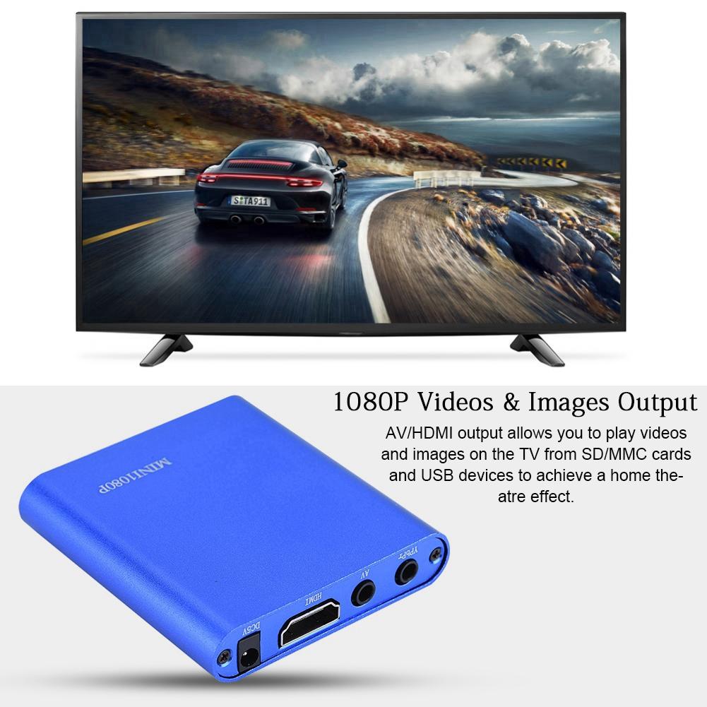 HD-1080P-HDMI-AV-son-stereo-largement-compatible-Centre-de-lecteur-multimedia