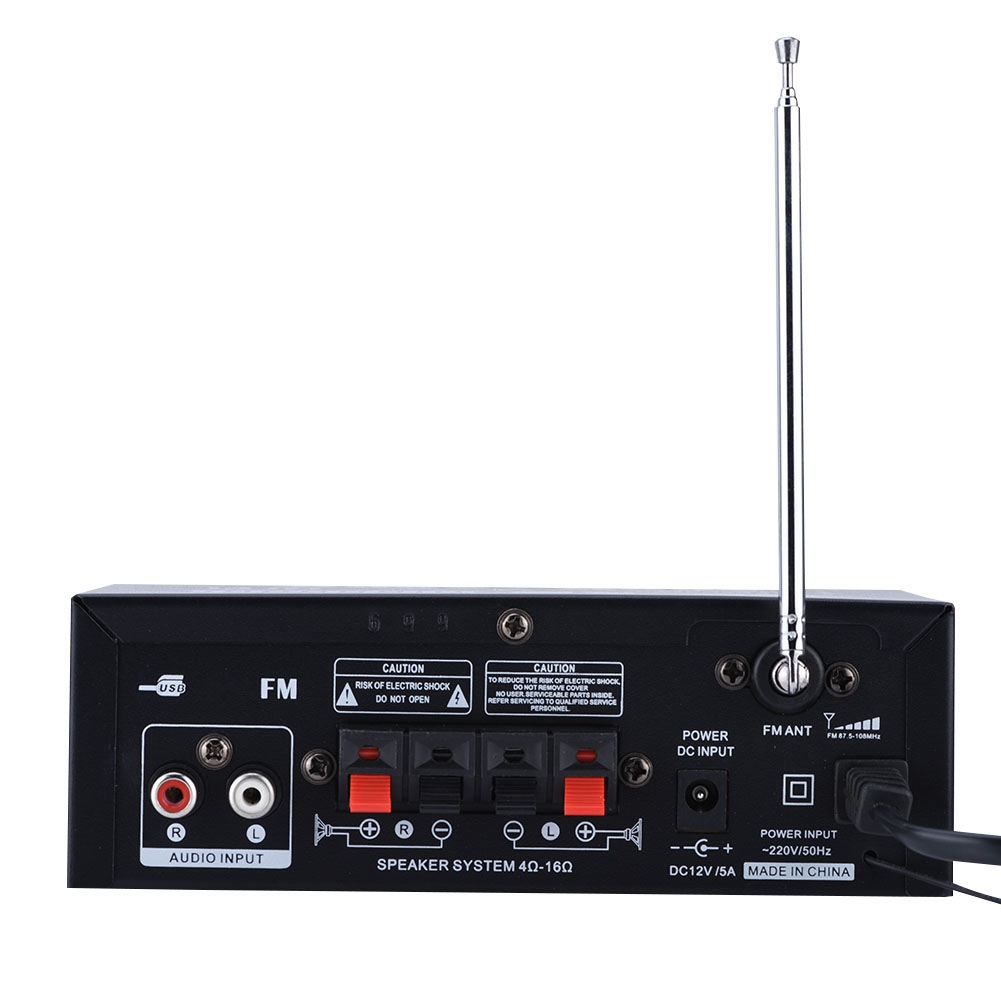 Car 60w Stereo Hi Fi Bluetooth Power Amplifier Audio Amp Bass With