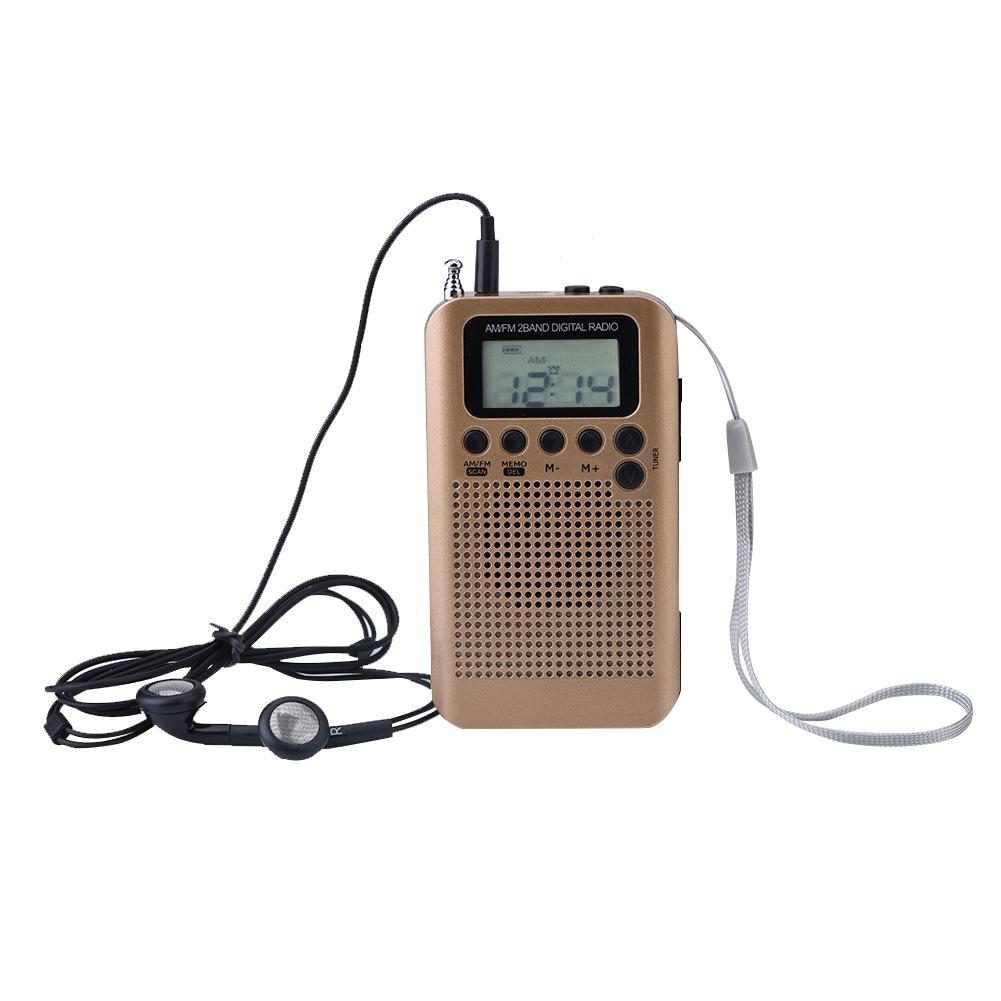 mini digital portable pocket lcd am fm 2 band radio stereo. Black Bedroom Furniture Sets. Home Design Ideas