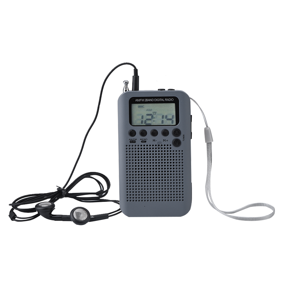 mini digital portable pocket lcd am fm 2 band radio stereo. Black Bedroom Furniture Sets. Home Design Ideas