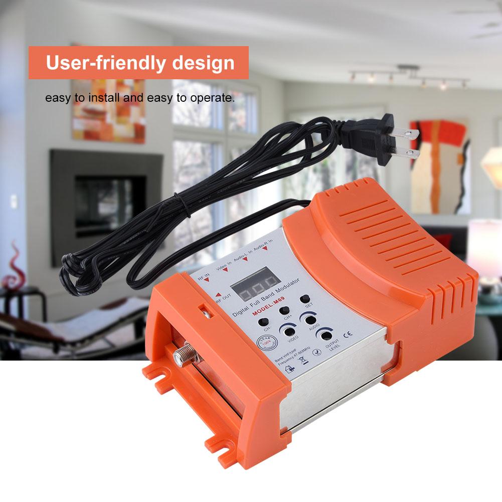 Mini-Digital-RF-Modulator-AV-RF-AV-TV-Converter-VHF-UHF-for-Audio-Video-Signal thumbnail 14