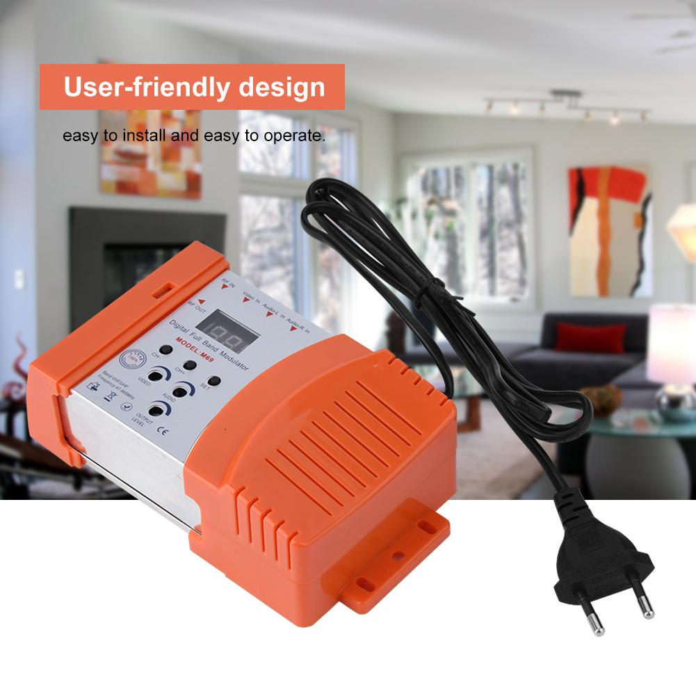 Mini-Digital-RF-Modulator-AV-RF-AV-TV-Converter-VHF-UHF-for-Audio-Video-Signal thumbnail 17