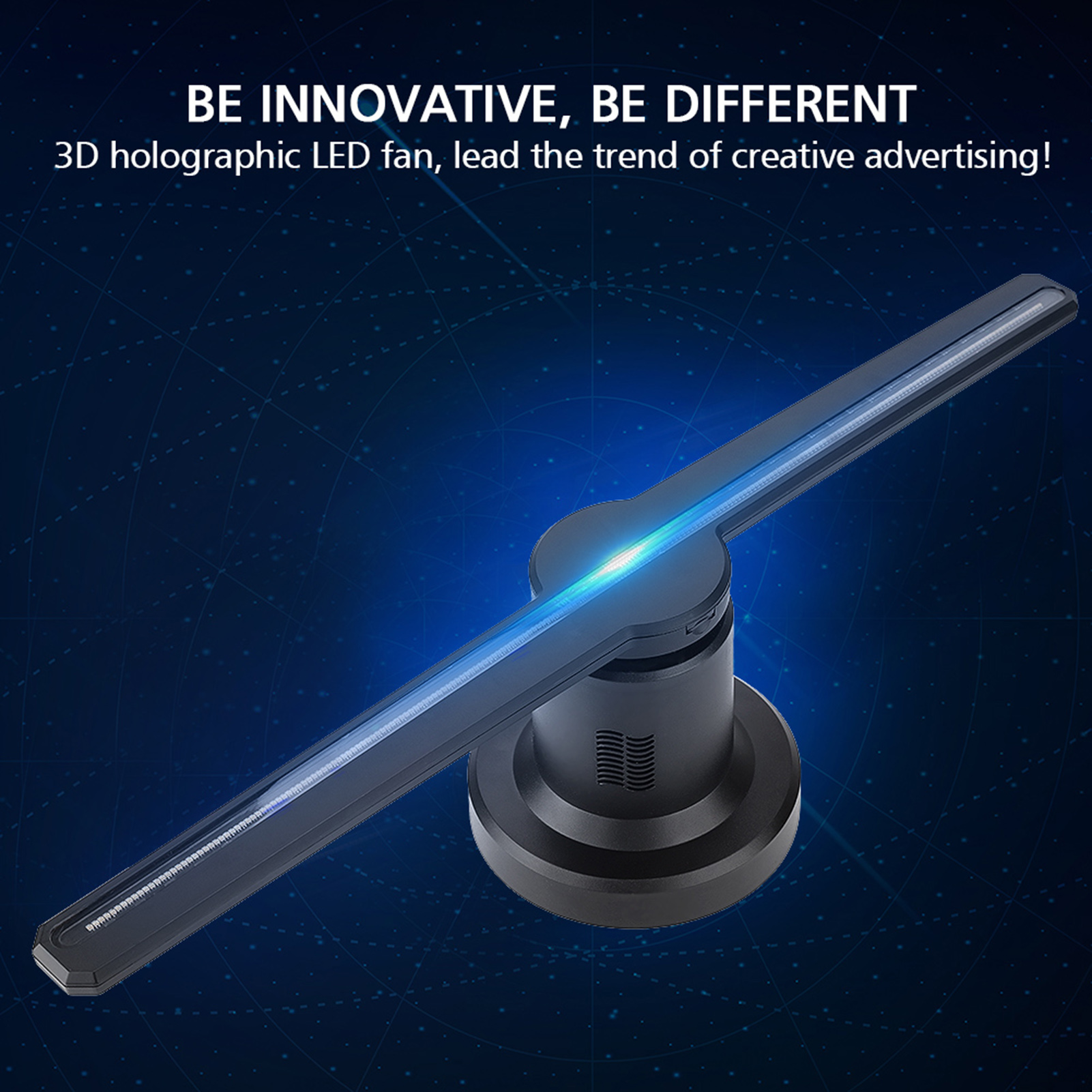 WiFi LED 3D Hologram Projector Fan Holographic Display Player
