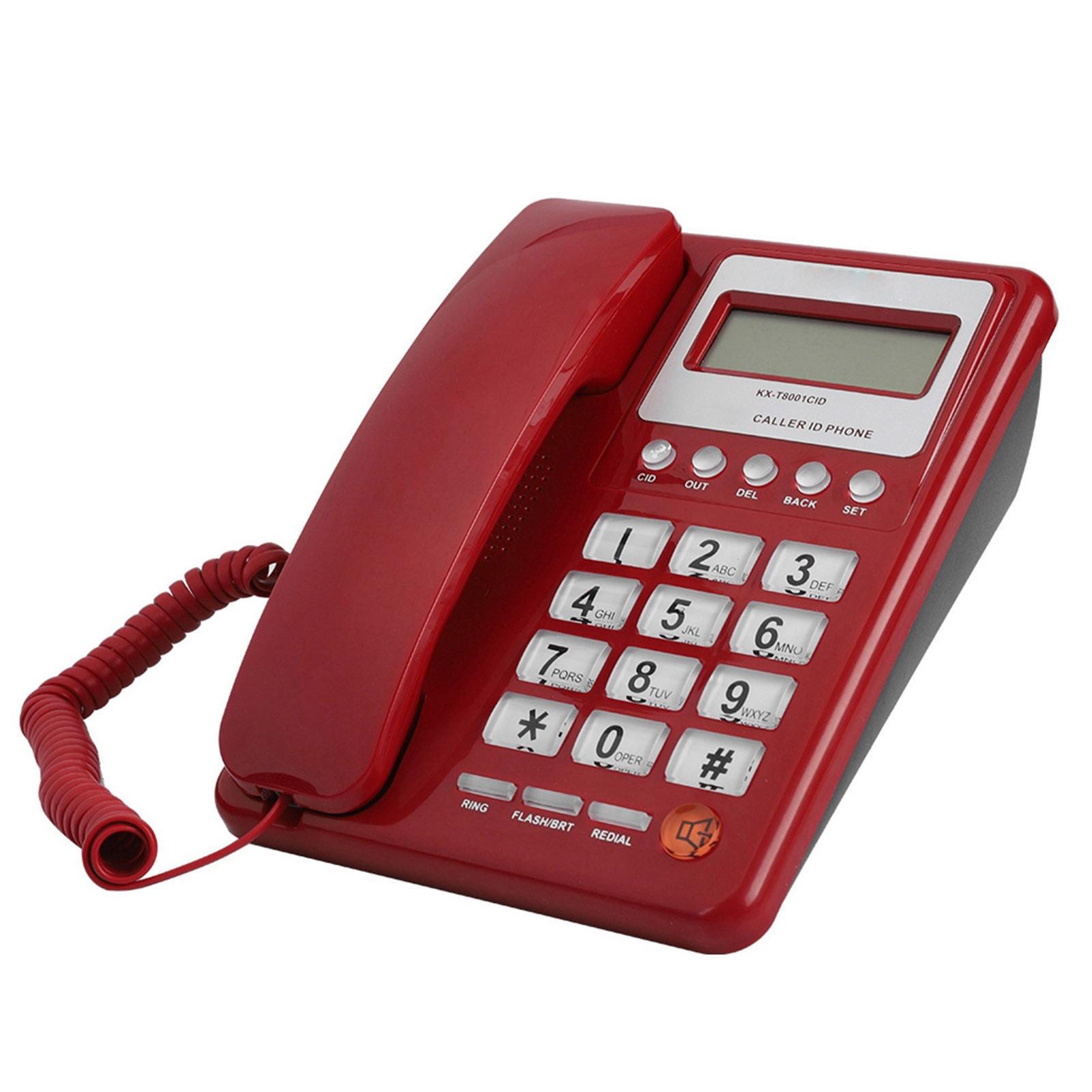 Desktop Corded Telephone Landline Home Office Phone With