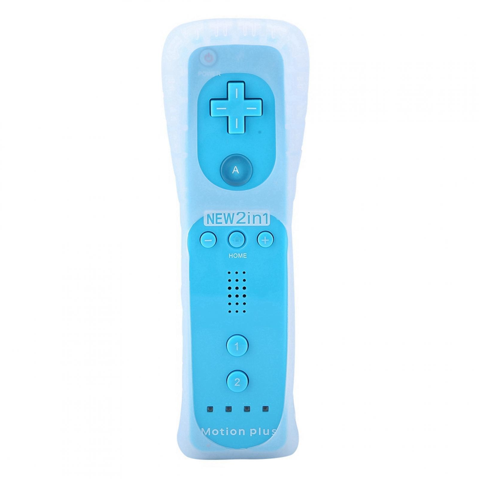 Built-in-Motion-Plus-Remote-Nunchuck-Controller-Cover-Case-for-Nintendo-Wii-WiiU miniature 55