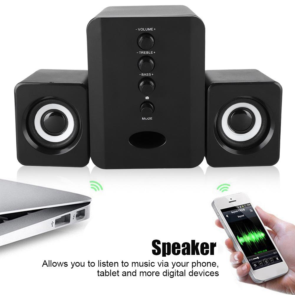 SADA-Bluetooth-Computer-Speaker-Desktop-Laptop-PC-Stereo-Subwoofer-Multimedia thumbnail 85