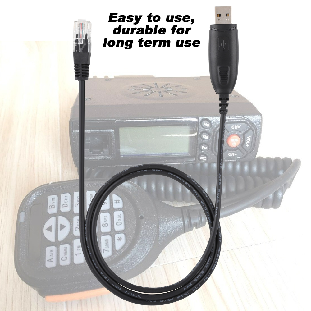 Programming Cable 8 in 1 USB Programming Cable with 8pcs Different Connectors for Kenwood//for QuanShengcn//for Tyt//for Motorola Radio