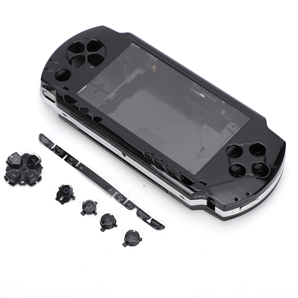 Repairing-Parts-Full-Housing-Shell-Case-Cover-for-PSP1000-2000-3000-Game-Console thumbnail 15