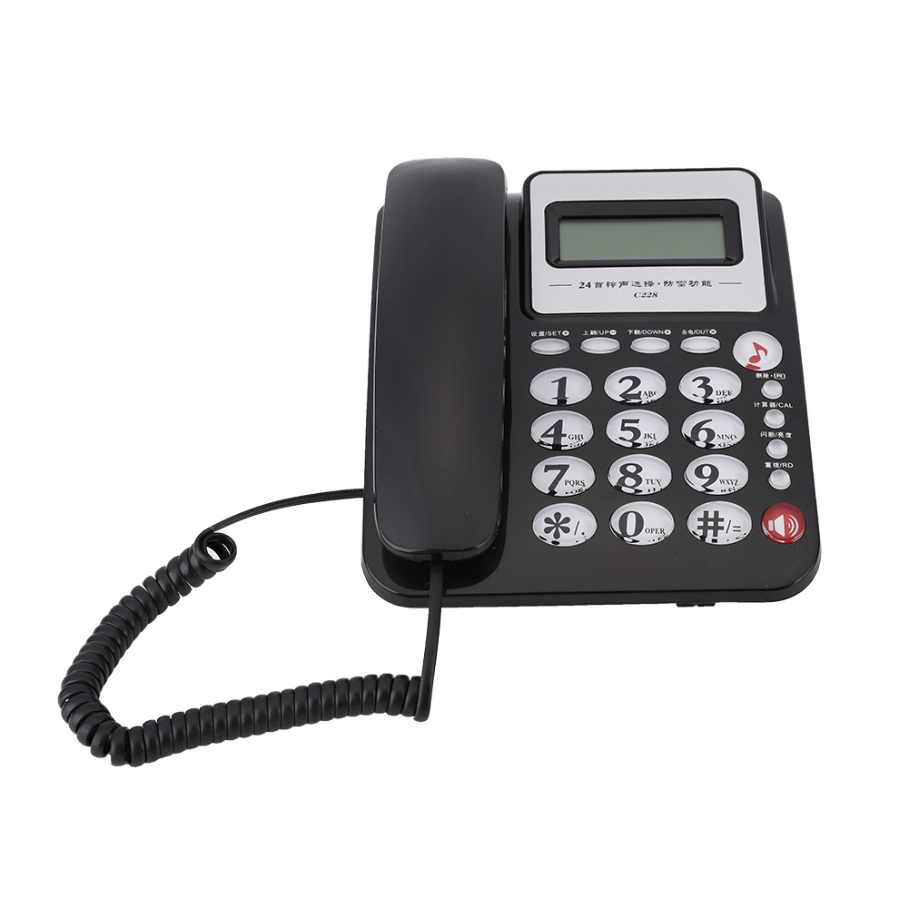 Fixed Corded Telephone Desk Home Office Wired Landline