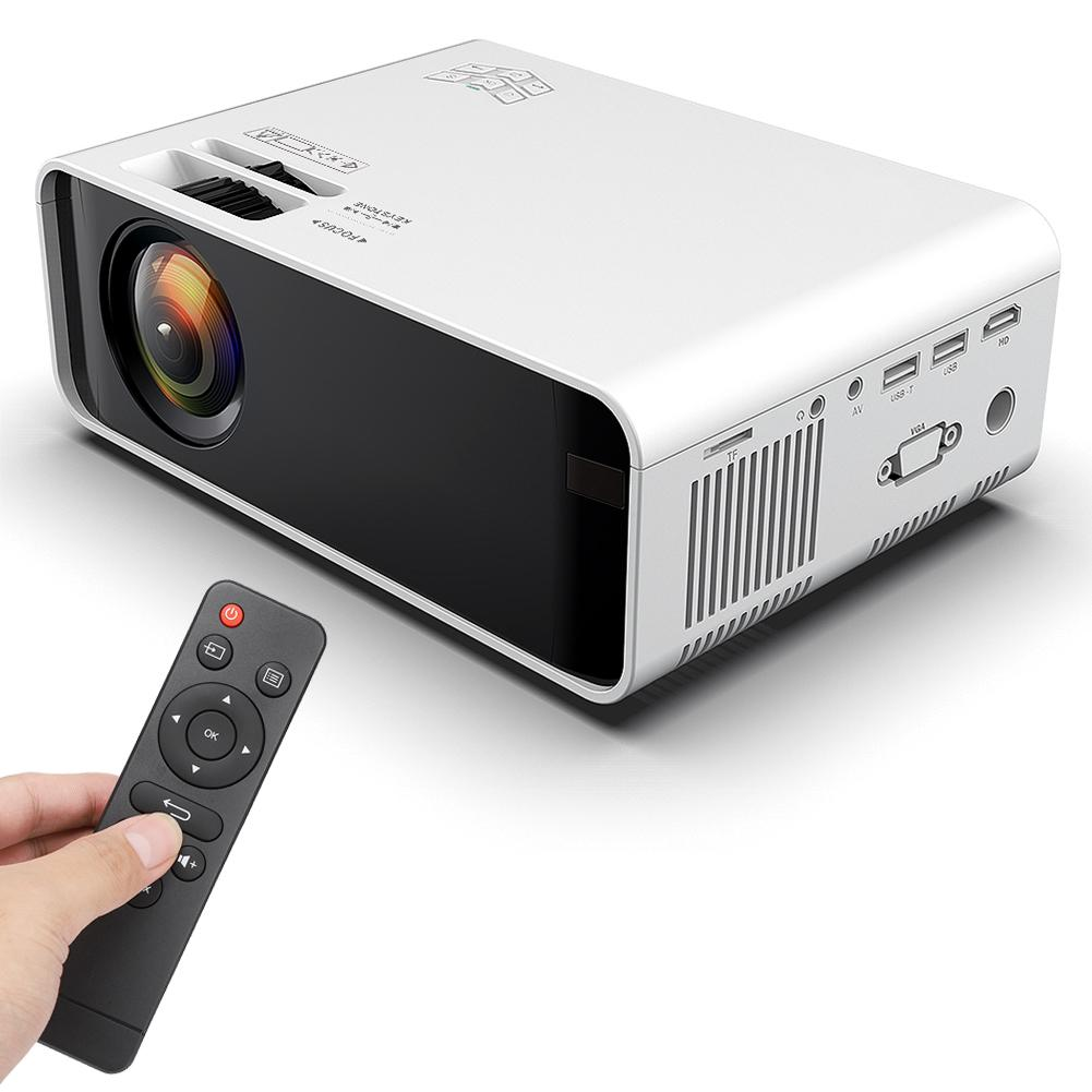 Android-4k-3d-1080p-12000-Lumen-LED-Projektor-WIFI-Bluetooth-Heimkino-Kino Indexbild 13