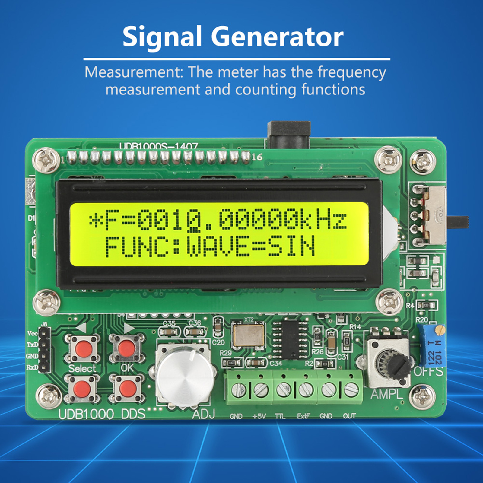 5 8mhz Dds Function Signal Generator Source Module Sine Square Wave Frequency Measurement Using Pic Microcontroller