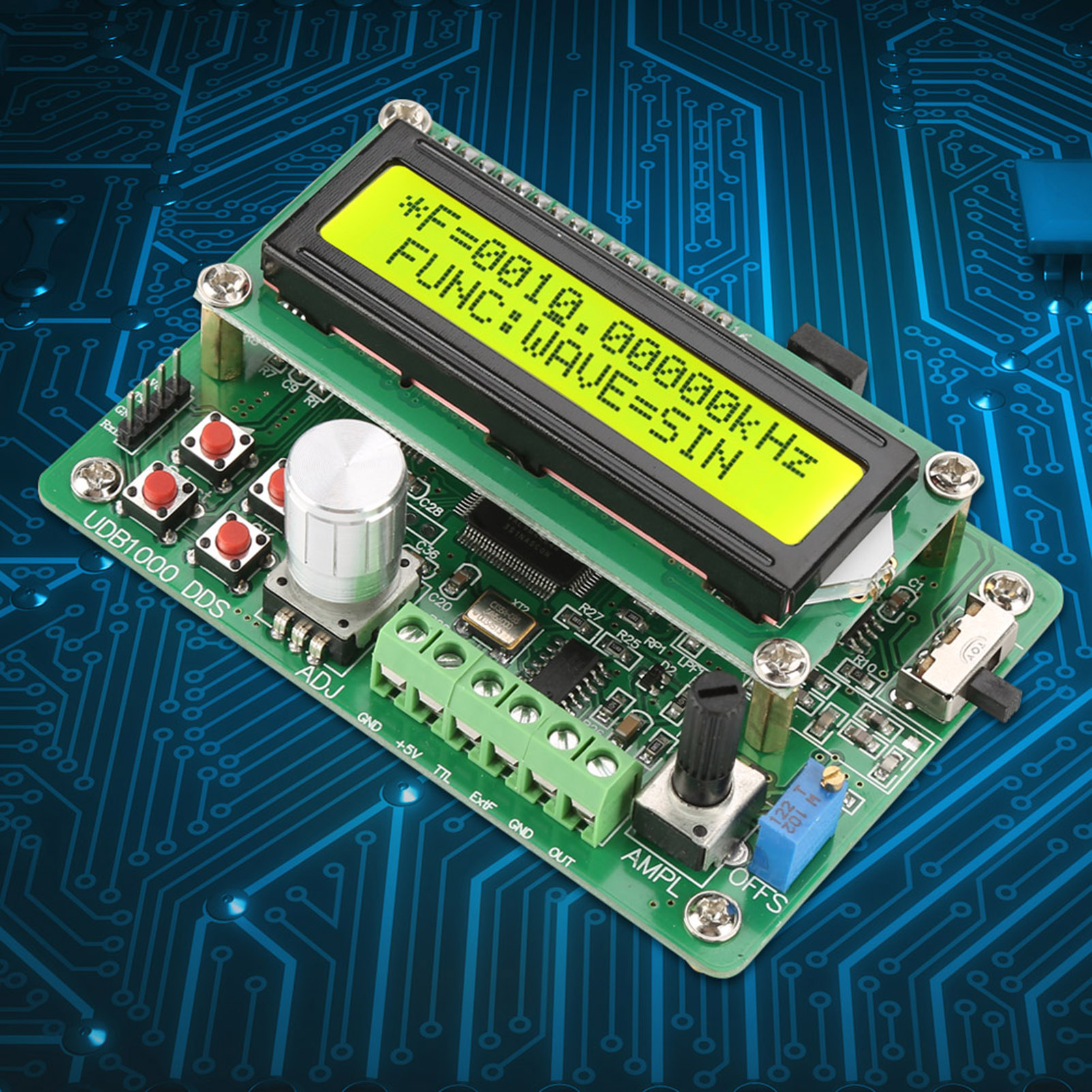 Details about Function Signal Generator Source Frequency Counter DDS Module  Wave USB to TTL