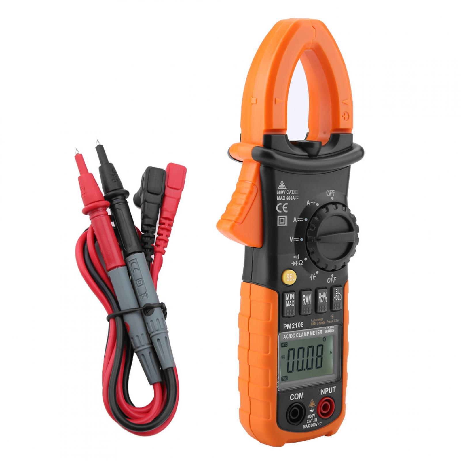 PEAKMETER-Portable-Digital-Clamp-Meter-Handheld-Multimeter-Resistance-