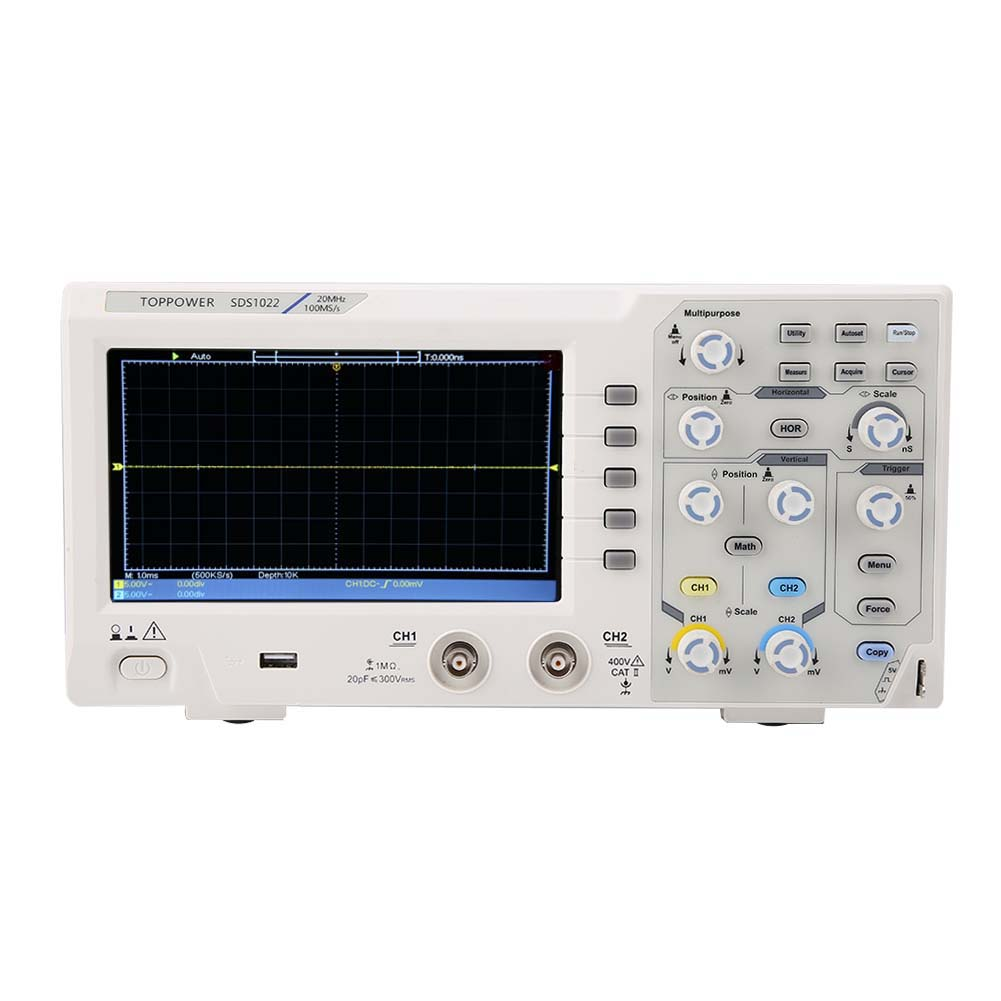 DS1022-7in-LCD-Display-2-Channel-Digital-Oscilloscope-20MHz-100-240V thumbnail 12