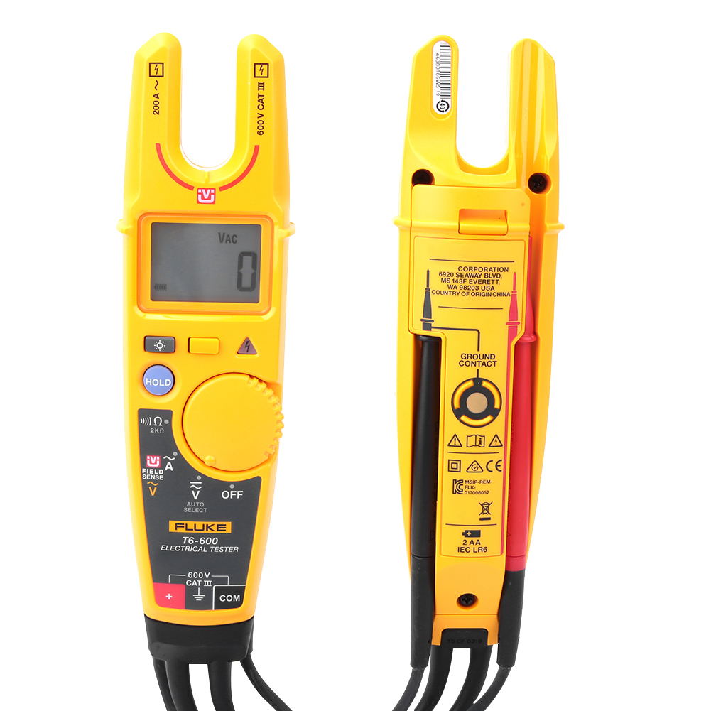 Fluke-T6-600-T6-1000-Electrical-Tester-Non-contact-Voltage-Clamp-Tester miniature 15