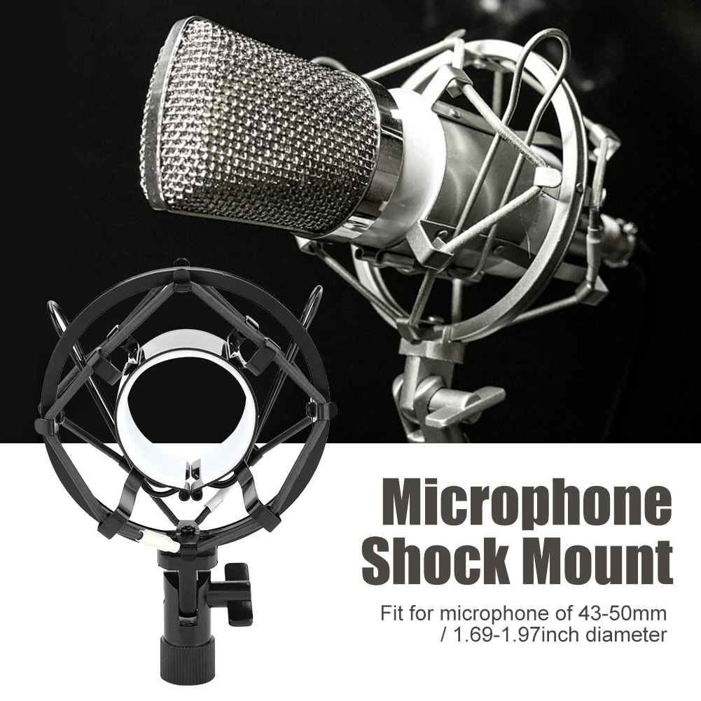 Universal Microphone Shock Mount Cradle Holder Stand Recording Mic For