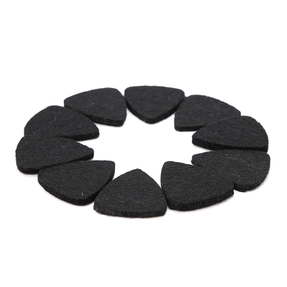 10-Wool-Felt-Guitar-Picks-Acoustic-Electric-Bass-Plectrum-3mm-for-Guitar-Ukulele thumbnail 10