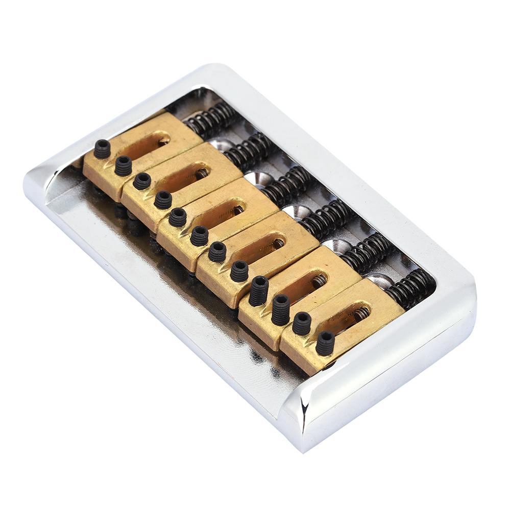 electric guitar hard tail fixed bridge for diy 6 string cigar box guitar repair ebay. Black Bedroom Furniture Sets. Home Design Ideas