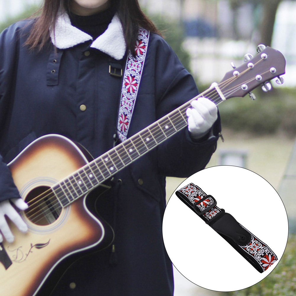 Adjustable-Soft-Strap-Embroidered-Pattern-Belt-for-Classic-Electric-Guitars-Bass thumbnail 12