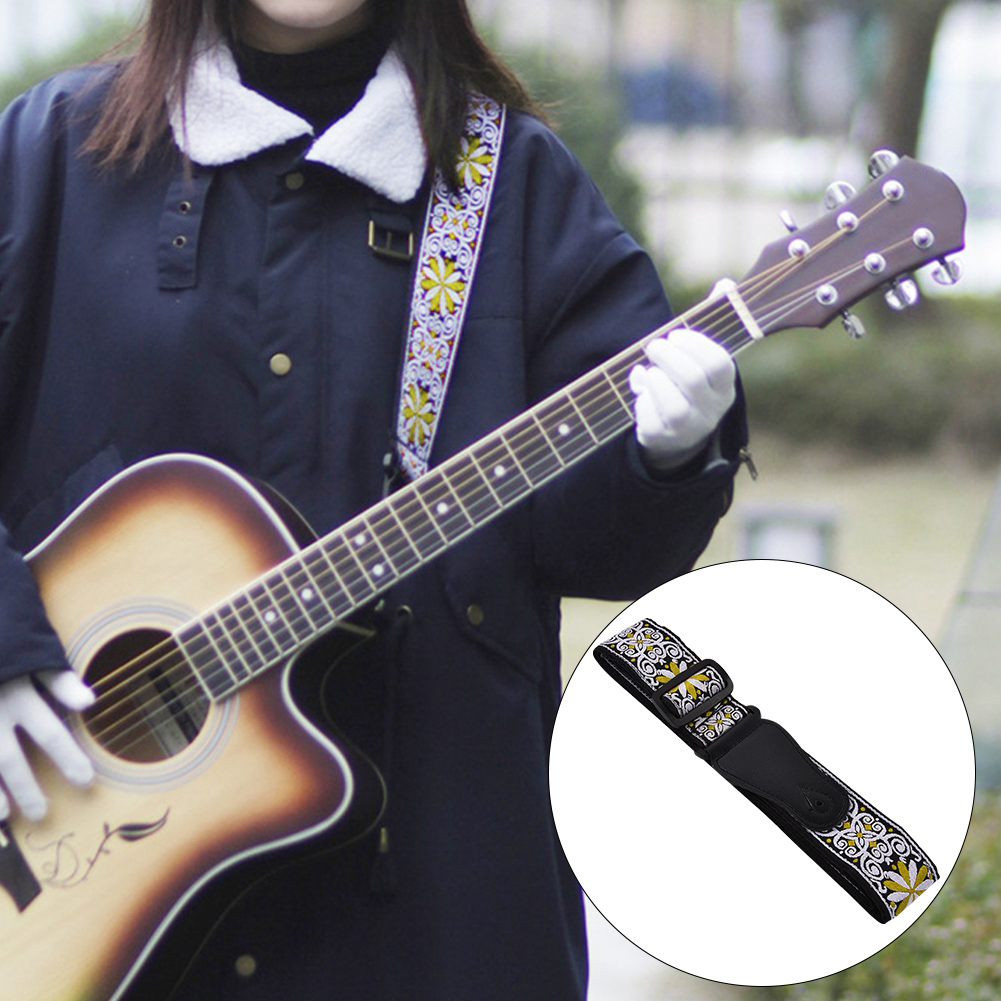 Adjustable-Soft-Strap-Embroidered-Pattern-Belt-for-Classic-Electric-Guitars-Bass thumbnail 15