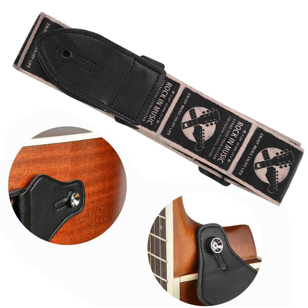 Guitar-Strap-for-Electric-Acoustic-Bass-Adjustable-Soft-Nylon-Webbing-Belt thumbnail 12