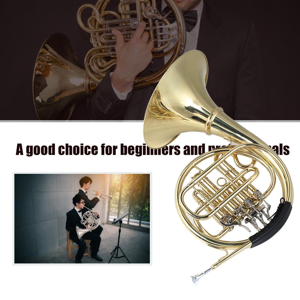B-flache große Vier-Knopf Brass Split Type Detachable Round Horn Instruments Kit