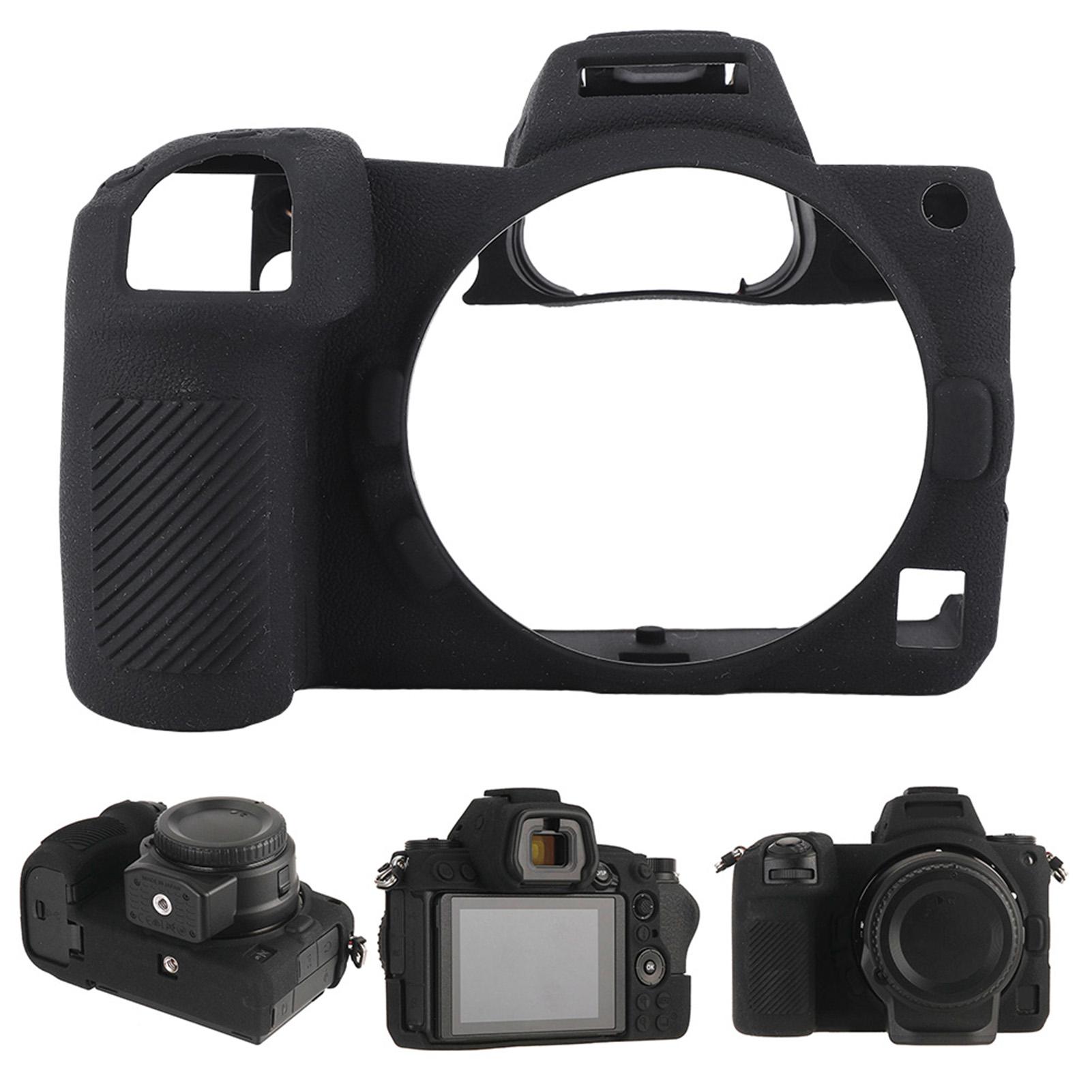 Funda-de-Silicona-Suave-a-Prueba-De-Golpes-Funda-Protectora-De-Camara-Para-Nikon-D5300-D7500-D3400 miniatura 36