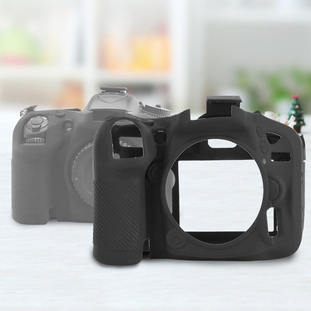 Funda-de-Silicona-Suave-a-Prueba-De-Golpes-Funda-Protectora-De-Camara-Para-Nikon-D5300-D7500-D3400 miniatura 24