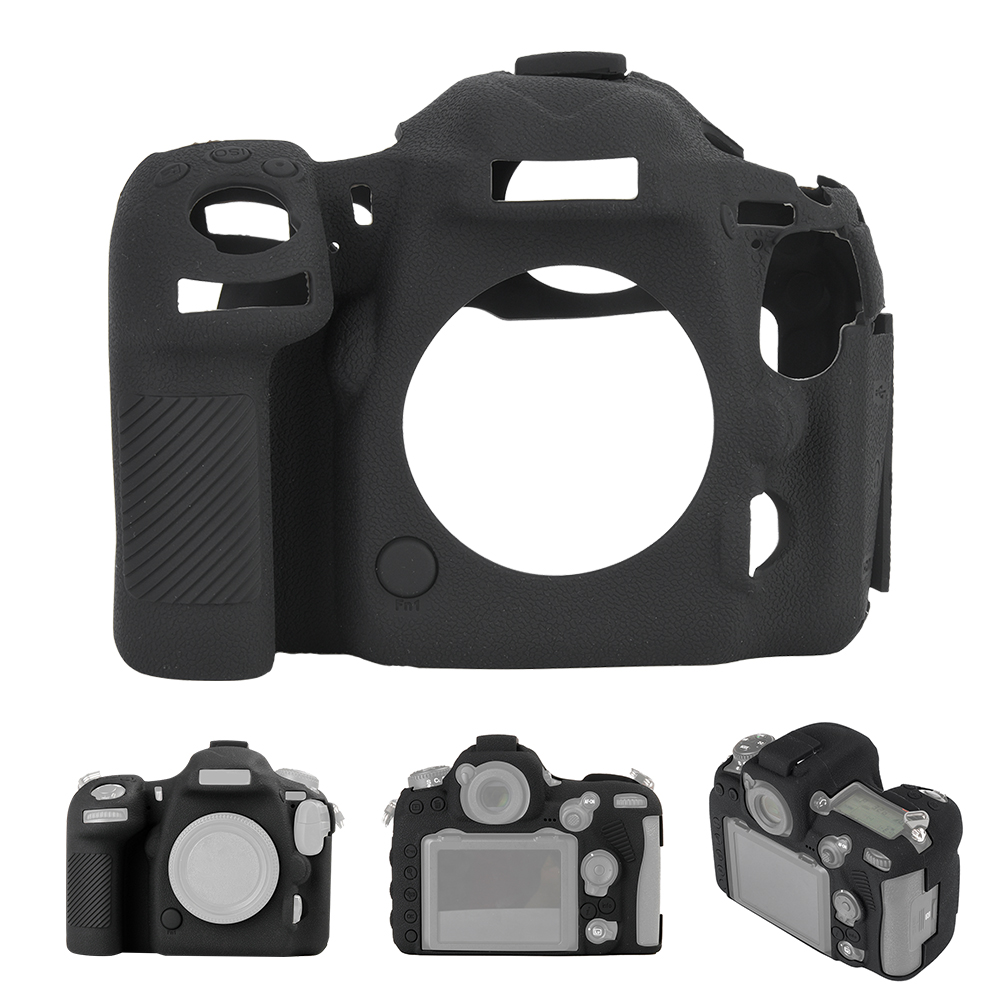 Funda-de-Silicona-Suave-a-Prueba-De-Golpes-Funda-Protectora-De-Camara-Para-Nikon-D5300-D7500-D3400 miniatura 45